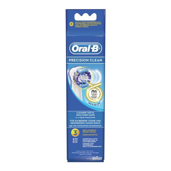 Recambio para Cepillo de Dientes Eléctrico Oral-B Precision Clean 3 pcs (5)