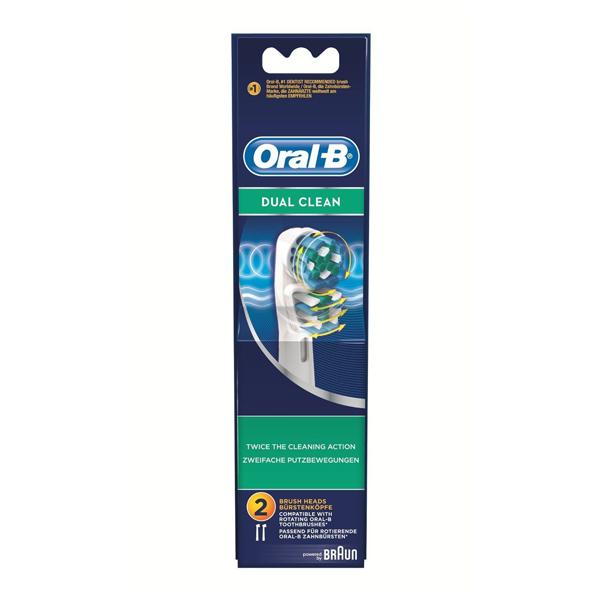 Testina di Ricambio Dual Clean Oral-B (2 uds)