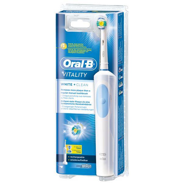 Cepillo de Dientes Eléctrico Oral-B White & Clean Vitality (1)