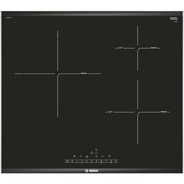 Piano Cottura ad Induzione BOSCH PIJ675FC1E 60cm fryingSensor Nero (3 fuochi)