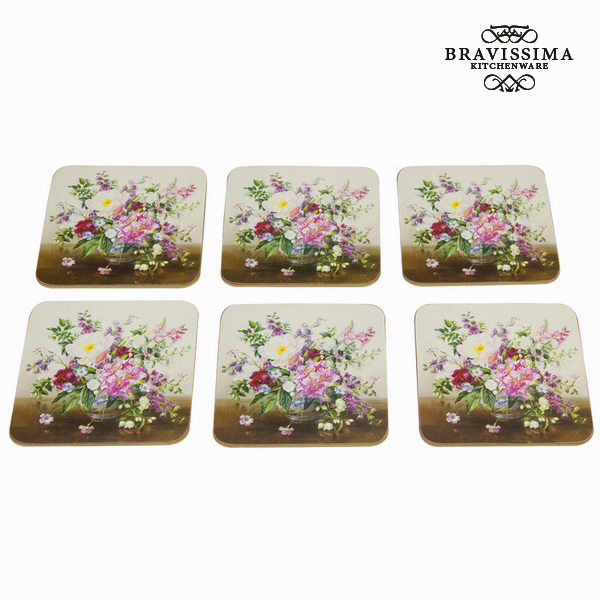 Set 6 posavasos bouquet natura - Colección Kitchen's Deco by Bravissima Kitchen
