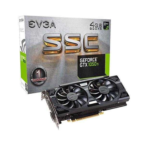 Scheda Grafica Gaming EVGA 04G-P4-6255-KR GTX 1050 TI SSC 4 GB DDR5