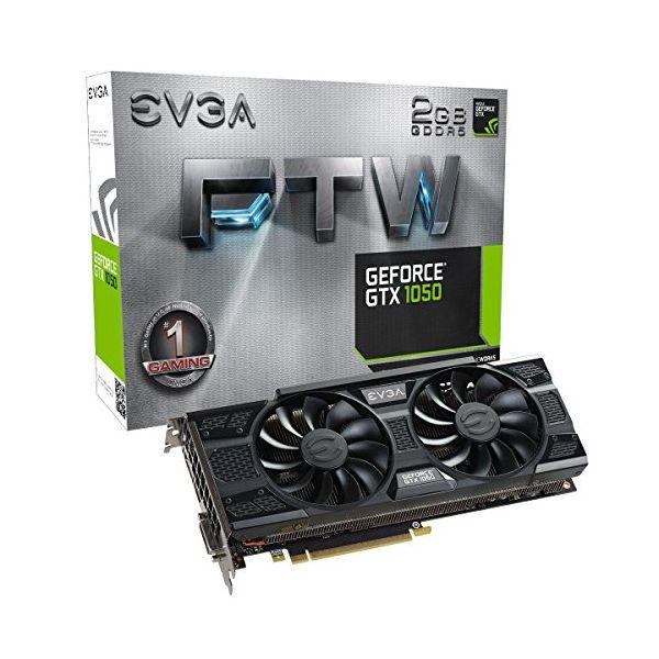 Scheda Grafica Gaming EVGA 02G-P4-6157-KR GTX 1050 FTW ACX 3 2 GB|DDR5