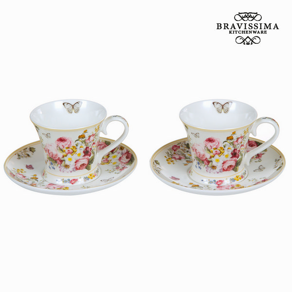 Set 2 tazze con piatto bloom - Kitchen's Deco Collezione by Bravissima Kitchen