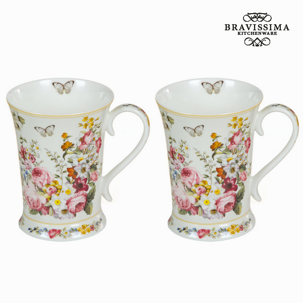 Set 2 tazze bloom white - Kitchen's Deco Collezione by Bravissima Kitchen