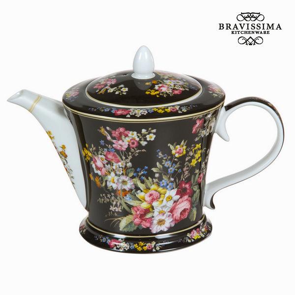 Teiera porcellana bloom black - Kitchen's Deco Collezione by Bravissima Kitchen