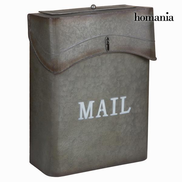 Sivi kovinski poštni nabiralnik mail - Art & Metal Zbirka by Homania