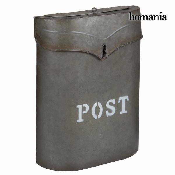 Sivi kovinski poštni nabiralnik post - Art & Metal Zbirka by Homania