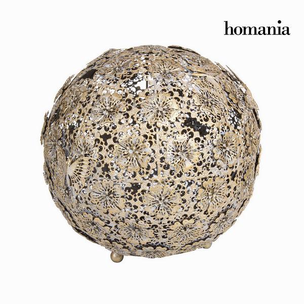 Zlata starinska krogla cvet in metulj - Art & Metal Zbirka by Homania
