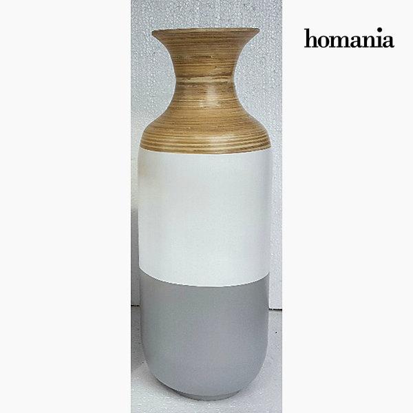 Jarrón bambú gris y blanco by Homania