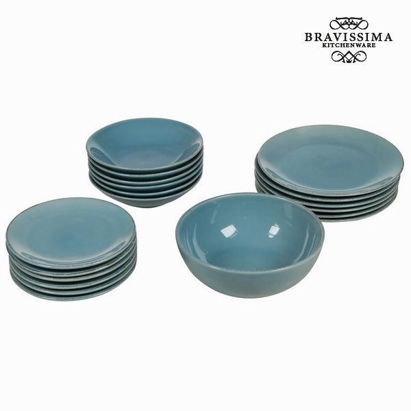 Vajilla 19 piezas de loza azul - Colección Kitchen's Deco by Bravissima Kitchen