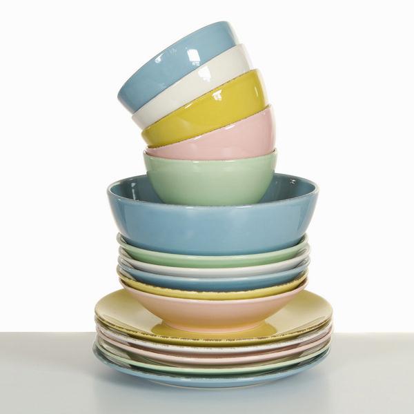 Vajilla 19 piezas de loza rosa - Colección Kitchen's Deco by Bravissima Kitchen (2)