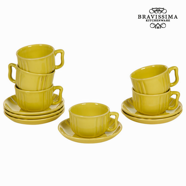 Set di Tazze e Piatti Servizio di piatti (6 pcs) - Kitchen's Deco Collezione by Bravissima Kitchen