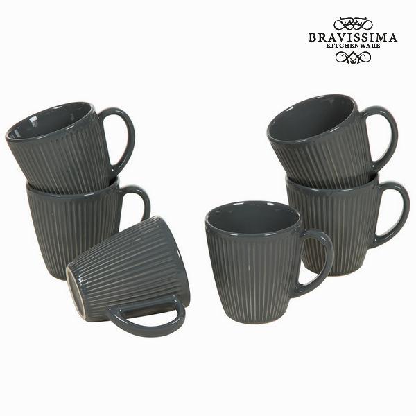 Jarra con asa juego 6 gris - Colección Kitchen's Deco by Bravissima Kitchen