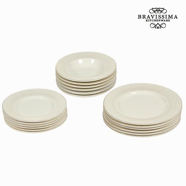Vajilla 18 piezas beige - Colección Kitchen's Deco by Bravissima Kitchen