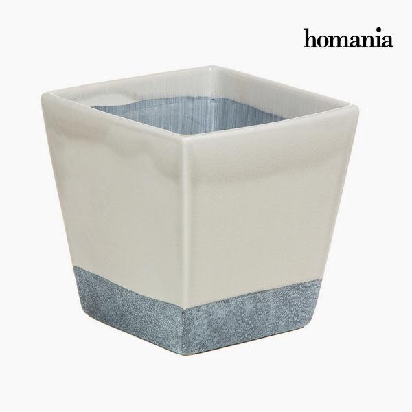 Macetero cerámica beige y gris by Homania