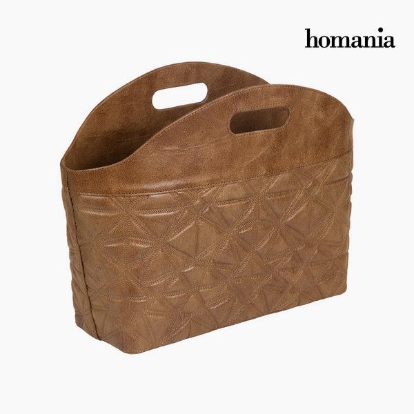 Revistero con grabado marrón by Homania
