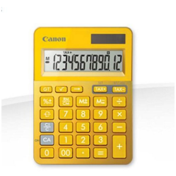 Calculadora Canon FEMMIN0220 LS-123 Amarillo