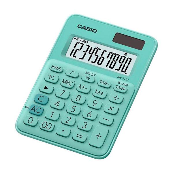 Calcolatrice Casio MS-7UC Verde