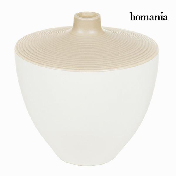 Vaso Bianco Marrone - Ellegance Collezione by Homania
