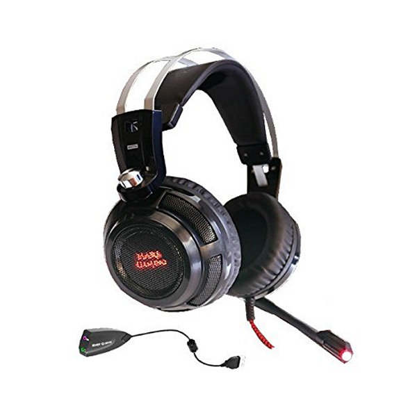 Auricolari con Microfono Gaming Tacens MH316 7.1 Surround USB + 40 mm Neodi Ultra Bass 32Ω 15 mW Nero