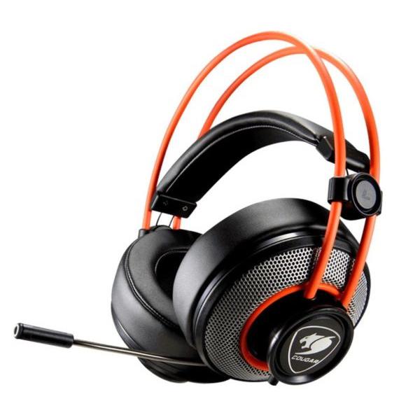 Auricolare con Microfono Gaming Cougar 3H300P40B.0001 Arancio Nero