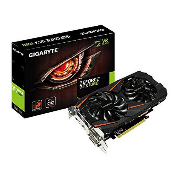 Scheda Grafica Gaming Gigabyte ITGPE50417 GV-N1060WF2OC 3GB GDDR5 PCI Express 3.0 x 16 6-pin x 1 Nero