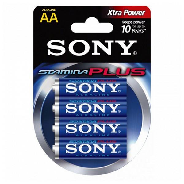 Pila Alcalina Sony 4+2 AA Stamina Plus AM3-B4X2D 1,5 V AA (4 pcs) Azul