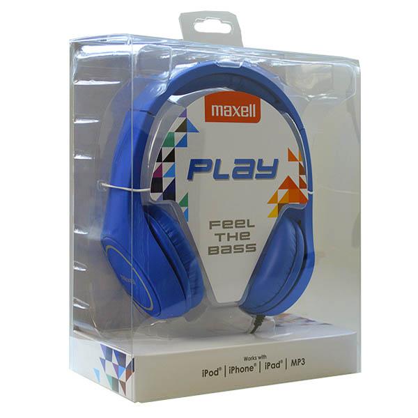 Auriculares Maxell Play MXH-HP500 Azul Diadema