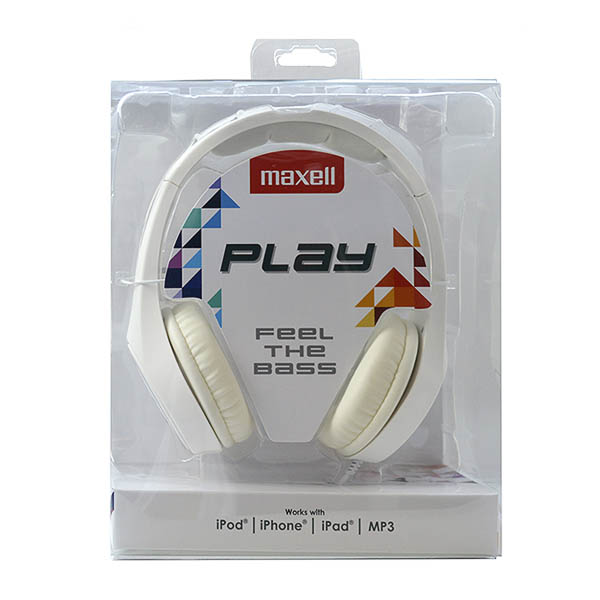 Auricolari Maxell Play MXH-HP500 Bianco Diadema