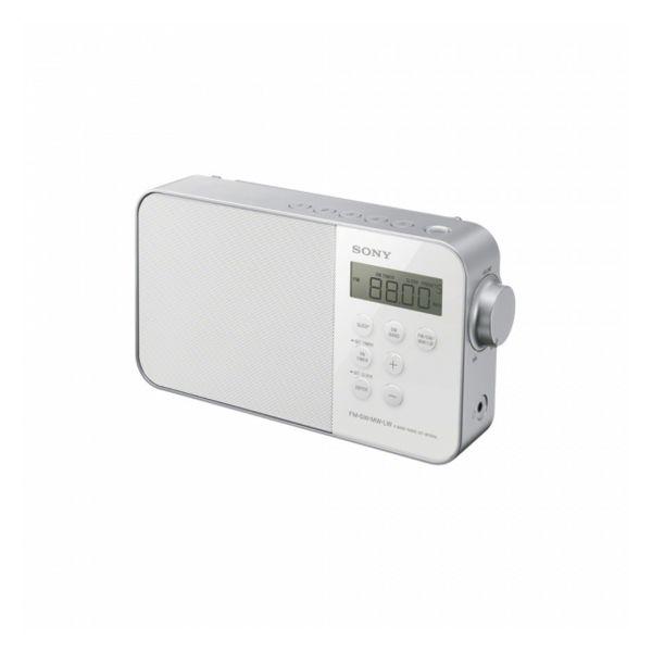 Radio-Orologio Sony ICF-M 780 LED FM Bianco