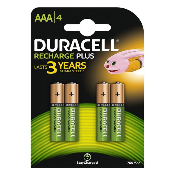 Pilas Recargables DURACELL 5000394090231 1, 2 V 750 mAh AAA (4 pcs) Verde