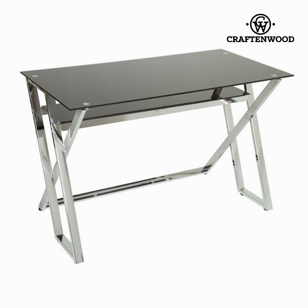 Mesa escritorio cristal negro by Craftenwood