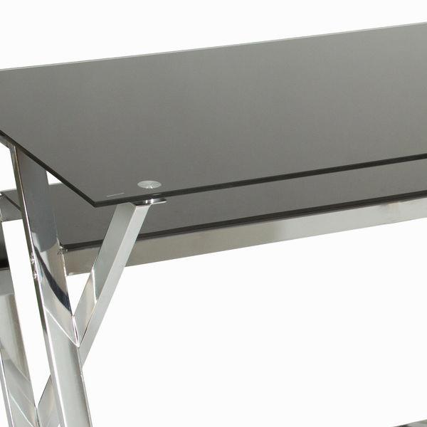 Mesa escritorio cristal negro by Craftenwood (1)