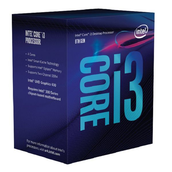 Processore Intel Intel� Core� i3-8100 Processor BX80684I38100 Intel Core i3 8100 3,6 Ghz 6 MB LGA 1151 BOX