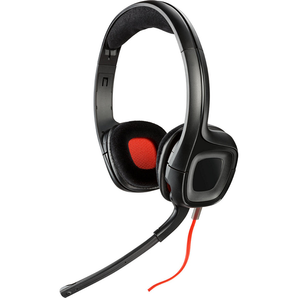 Auriculares con Micrófono Plantronics 222556 40 mm Negro Rojo