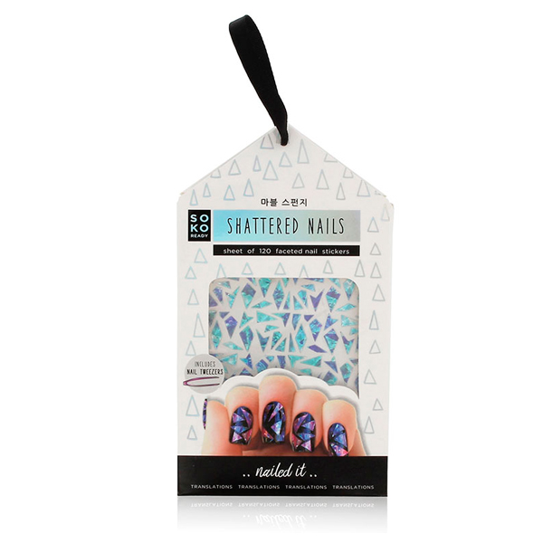 Adesivi per unghie Shattered Nails Soko Ready (120 uds)