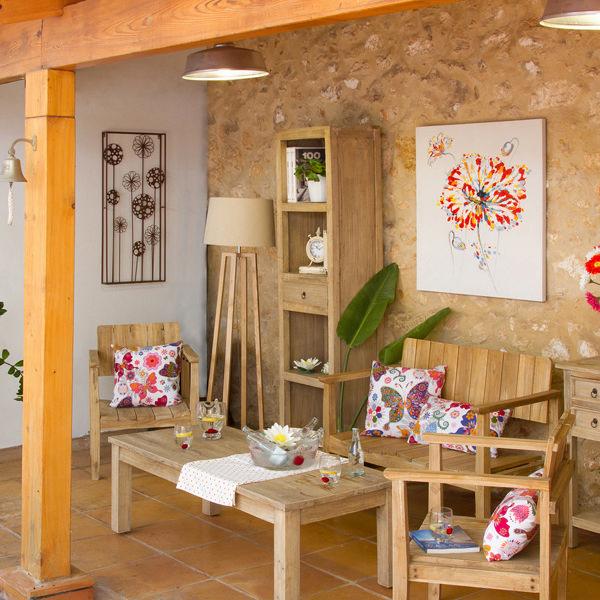 Mesa con tres cajones - Colección Pure Life by Craftenwood (1)