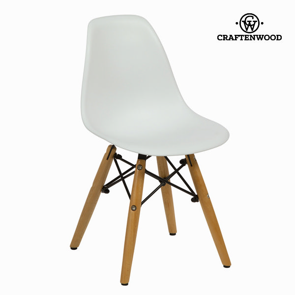 Beli otroški stol iz bukve by Craften Wood