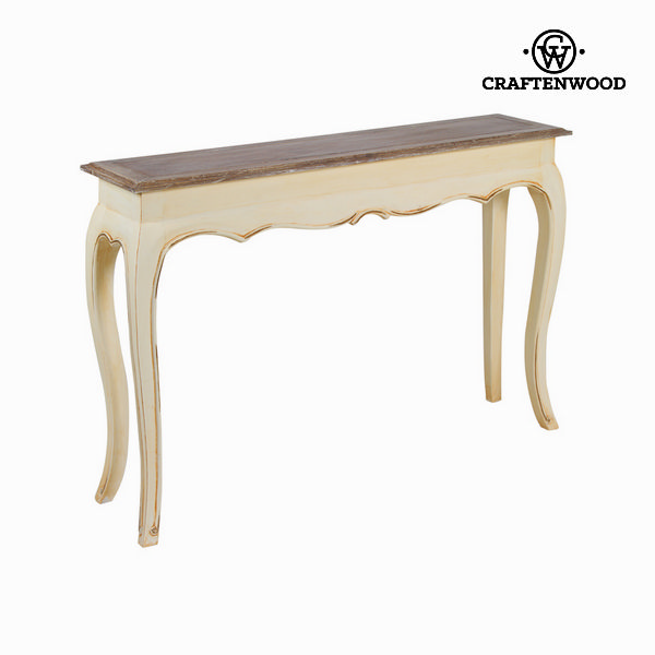 Consola beige y teca by Craftenwood