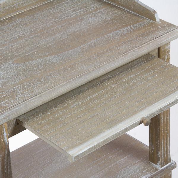 Mesa con estante - Colección Vintage by Craftenwood (2)