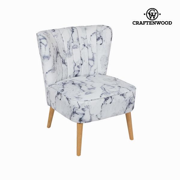 Naslonjač iz tkanine marmor by Craften Wood