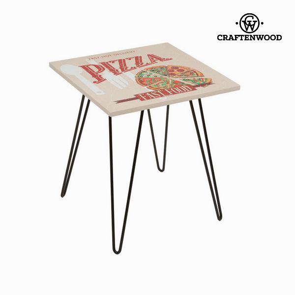 Bež kvadratna miza pizza  by Craften Wood