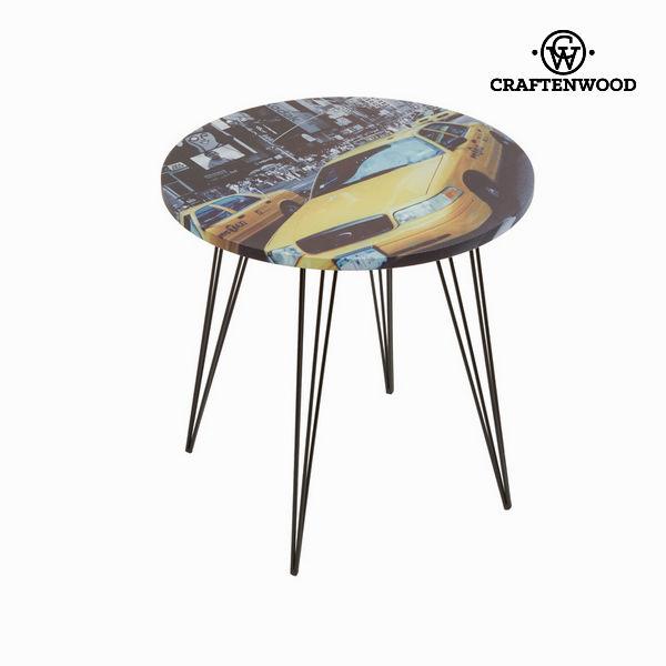 Okrogla miza rumeni taksi by Craften Wood
