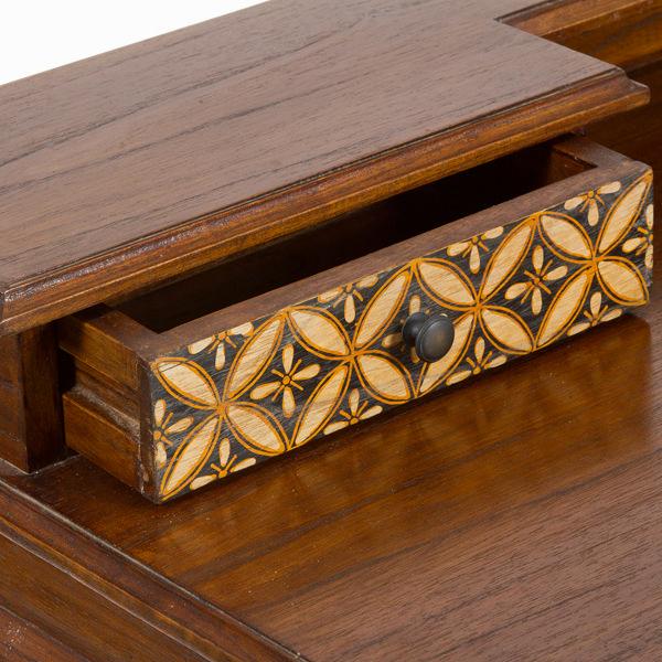 Bureau 3 cajones en madera - Colección Serious Line by Craftenwood (2)