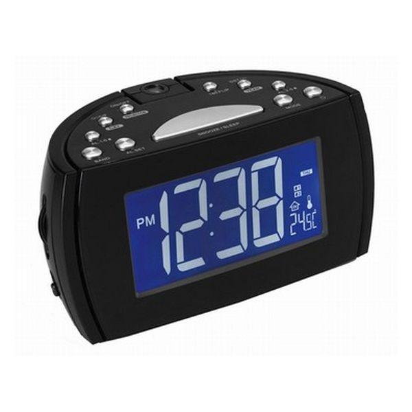 Radiosveglia con proiettore LCD Denver Electronics 224810 Nero