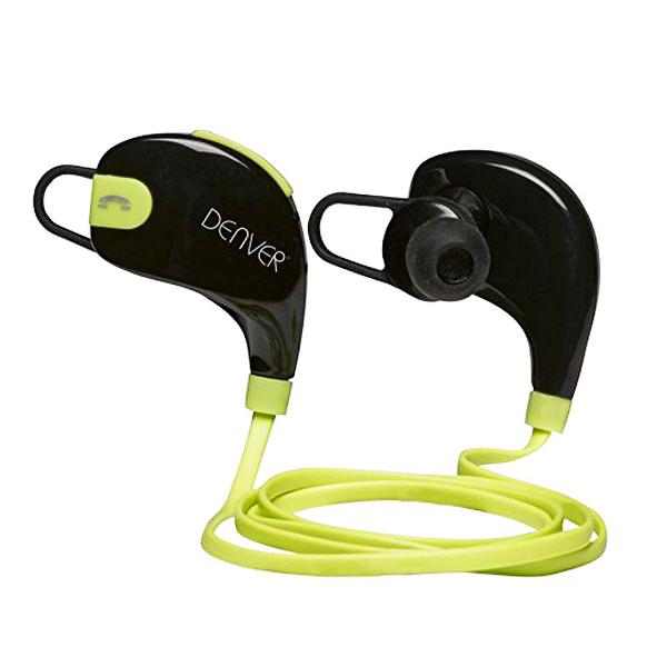 Auricolari Bluetooth Sportivi Denver Electronics BTE-100GREEN Nero Verde