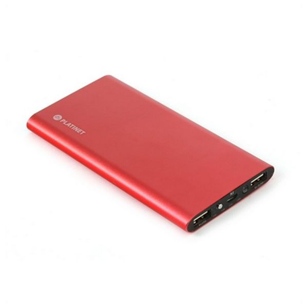 Power Bank PLATINET PMPB8PBR USB Poly 2.1A | Rojo