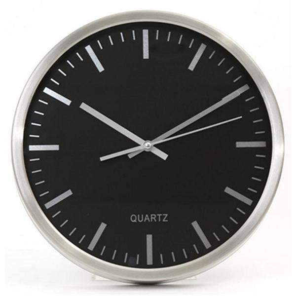 Reloj de Pared PLATINET PZN Aluminio Negro