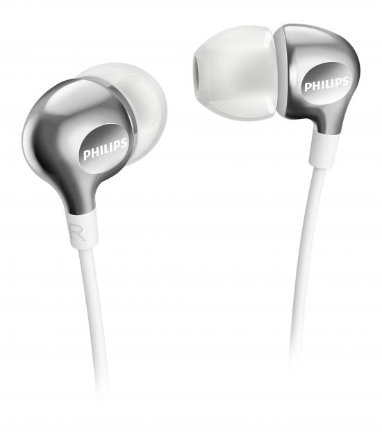 Auriculares de Botón Philips SHE3700WT/00 105 dB Plata